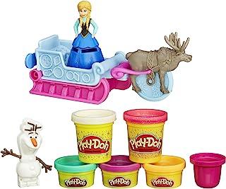 Play-Doh培乐多冰雪奇缘雪橇冒险橡皮泥玩具套装
