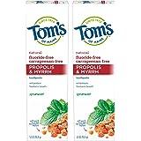 Tom's of Maine 天然护理牙膏,Propolis & Myrh,* 5.5-Ounce, 2 Count
