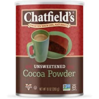 Chatfield's 可可粉,不加糖,素食主义,无麸质,10盎司,283克,罐装,1罐