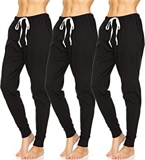 Essential Elements 3 件装:女式 * 纯棉运动健身休闲*睡衣慢跑运动裤