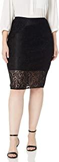 Star Vixen 女式加大码蕾丝铅笔裙,带短衬里
