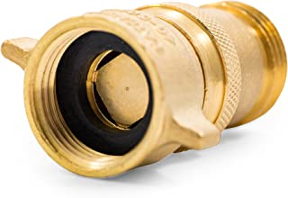 Camco (40055) RV 黄铜内联水压调节器 - 有助于保护 RV 管道和软管免受高压城市水中的侵害