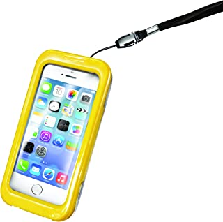 Celly WPCIPH03 防水保护套,适用于 Apple iPhone 5S 黄色
