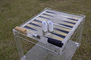 豪华定制亚克力十字桌桌,咖啡桌,23 英寸长 x 20 英寸宽 x 18 英寸高。 适合家庭、成人和儿童的游戏。