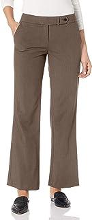 Calvin Klein 女士娇小经典修身豪华长裤 Heather 灰褐色 4 Petite