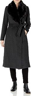 Cole Haan 女士梅兰斜纹束腰长袍大衣
