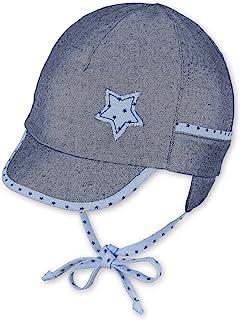 Sterntaler 思丹乐 男婴 帽子 绑带、耳盖和圆点图案 边缘、丝带和星星图案帽子