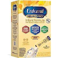 Mead Johnson 美赞臣 NeuroPro 婴儿配方奶粉,MFGM、欧米茄3 DHA、铁,0.6盎司/17.6克…