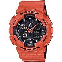 Casio GA100L-4A Men's G-Shock Black Ana-Digi Dial Orange & B…