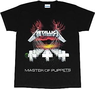 Metallica Master of Puppets 女士男友修身T恤,官方商品 | 礼物创意送给她,乐队Merch,金属音乐
