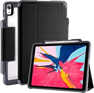 """STM Bags Dux Plus Case Folio Schutzhülle für Apple 11"""" iPad Pro (2018) - schwarz/transparent [Lädt Apple Pencil 2 kabellos..."""