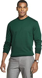 Van Heusen 男式长袖弹性羊毛拼色圆领套头衫 Bayberry Large