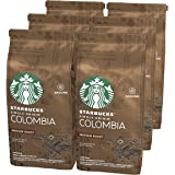 STARBUCKS 星巴克 Single-Origin Colombia 中等烘焙咖啡粉,中度烘培,200g(6 x 2…
