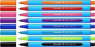 Schneider 施耐德 Slider Edge XB 圆珠笔,8 个悬挂架,各种颜色 (152279)