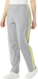 AmeriMark 女士保暖运动裤撞色条纹 * 纯棉