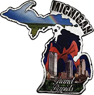 密歇根州大湖州冰箱纪念品礼品磁贴和大速干冰箱磁贴