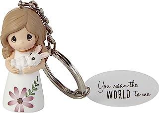 Precious Moments 203172 女孩带兔子钥匙链,均码,多色