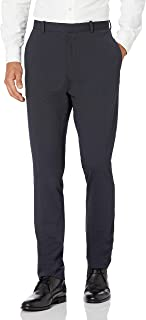 Perry Ellis 男式修身弹力纯色圆点印花西装裤