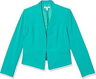 NINE WEST 女式厚实酷绉绸长翻领开口夹克