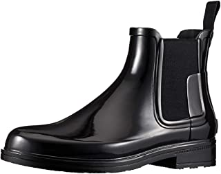 [猎人] 长靴 M ORG REFINED CHELSEA GLOSS 黑色 25.0 cm