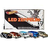 Hot Wheels Led Zeppelin 5 件套可收藏压铸汽车高级流行文化专辑艺术汽车,送给音乐迷和收藏家的礼物…