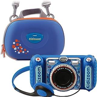 VTech 伟易达 80-520094 80-520094-KidiZoom Duo DX 包括便携包蓝色儿童相机
