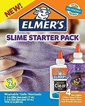 Elmer's 史萊姆粘膠入門套件,學校用透明粘膠和紫色閃光膠,4支