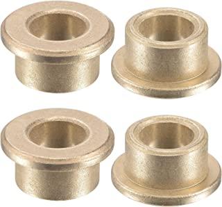 uxcell 法兰套筒轴承 8mm 孔径 12mm 外径 8mm 长 16mm 法兰直径 2mm 法兰厚度烧结青铜自润滑衬套 4 件