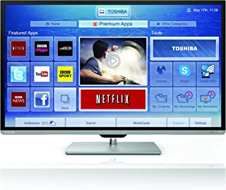 Toshiba 东芝 50L7355DB 50英寸宽屏全高清1080p智能3D超薄LED电视,带Freeview HD(制造商已停产)