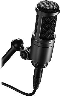 Audio-Technica 铁三角 AT2020 心形电容工作室 XLR 麦克风,黑色,非常适合项目/家庭工作室应用