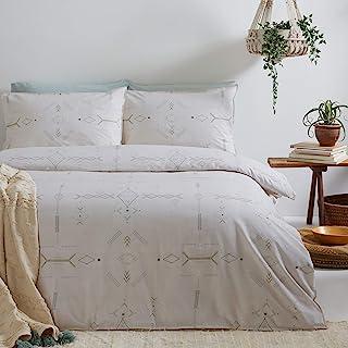 The Linen Yard 迷你Inka 羽绒被套和枕套套装,自然色,King