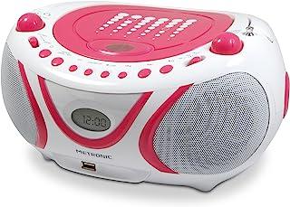 Metronic 477109 CD-MP3 收音机 Pop 白色 / 粉红色
