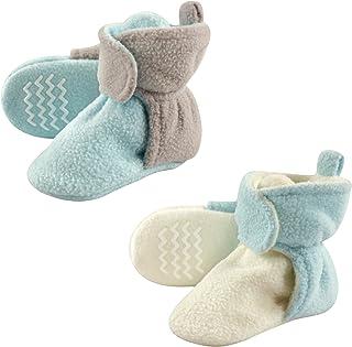 Hudson Baby 宝宝舒适羊毛短靴防滑底,2包