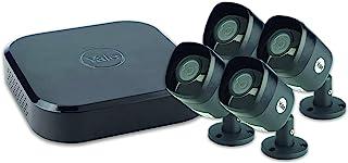 Yale SV-8C-4ABFX 智能家居闭路电视套件 - HD1080,4 个摄像头,8 个频道,2TB 硬盘,黑色