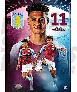 Be The Star Posters 阿斯顿别墅 FC 2020/21 Ollie Watkins A3 足球海报/印刷/墙壁艺术 - 官方*产品 - 提供 A3 和 A2 (A3)