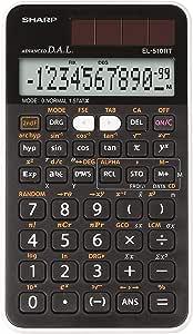 Sharp 夏普 EL-510-RT 科学计算器(D.A.L.输入,太阳能/电池供电)白色/黑色