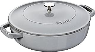 STAUB 珐宝 40511470/0灰色带柳条杓的铸铁椭圆砂锅,28厘米