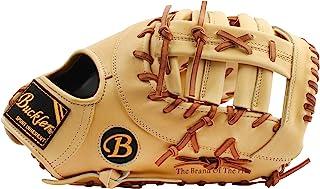 BUCKLER 'Fame Pro' 系列 - 优质德州阉牛皮成人棒球手套 - *垒手套 - 12.75 英寸 - RHT 和 LHT