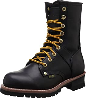 "AdTec 女士 9"" Logger 黑色工装靴"