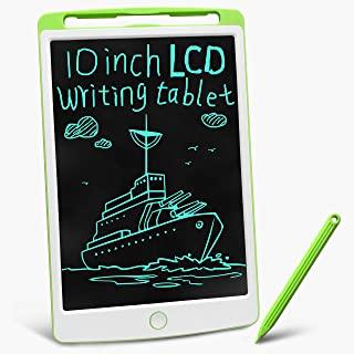 gkcity LCD 书写平板涂鸦迷你板,带触控笔,可擦除便携式备忘录记事本,适用于儿童学习玩具生日礼物,数字蚀刻图案 10 英寸(约 25.4 厘米)绘图板(*)3 岁以上使用