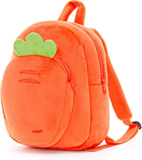 Lazada 幼儿背包儿童背包毛绒袋婴儿餐巾纸 Orange Backpack