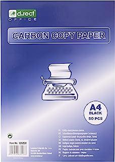 D.RECT 复写纸 适用于打字机 DIN A4 机器复写纸 CARBON COPY PAPER 黑色 50 张