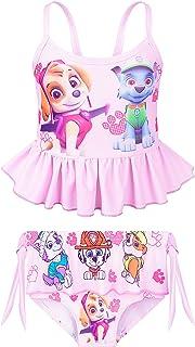 LovelyAnne 女童公主泳装两件套沙滩运动泳装分体泳衣套装 适合 3-8 岁儿童