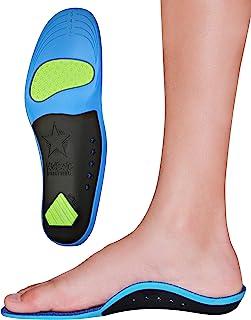 KidSole 儿童*泡沫星空盾牌足弓支撑鞋垫提供舒适、缓冲和足弓支撑(24 厘米)儿童尺码 2-6)