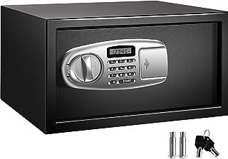 VEVOR *盒 1.1 立方英尺,保险箱黑色,橱柜保险箱 43.5 x 22.8 厘米,键盘*数字保险箱,非常适合家庭、酒店和办公室