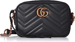 GUCCI 古驰 单肩包 GG MARMONT 绗缝 单肩包,黑色