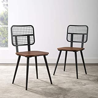 Walker Edison Furniture AZHQUIN2DW 餐椅 2 件套 深核桃色