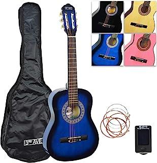3rd Avenue 1/2 尺寸蓝色经典吉他包,配包、调谐器和备用琴弦