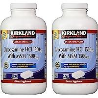 Kirkland Signature 柯克兰 加强氨基葡萄糖盐酸盐1500mg,含MSM 1500mg,375粒片剂(2…