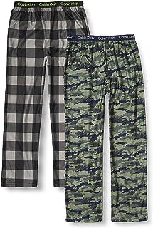 Calvin Klein 男孩睡衣超柔软拉绒微绒睡裤,2 件装